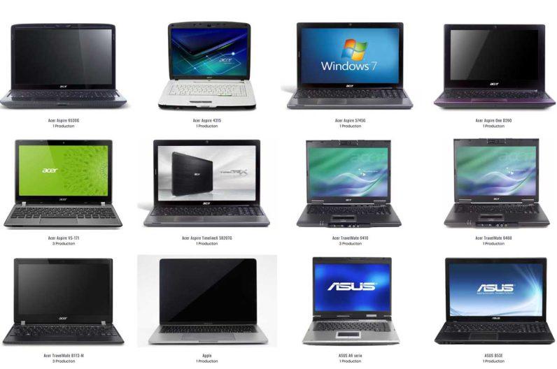 Laptop onderdelen kiezer